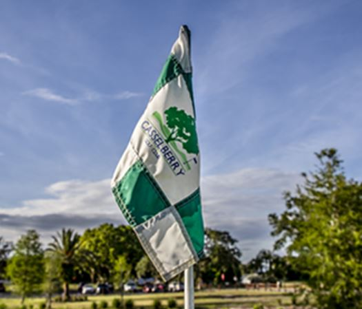 Casselberry golf course flag on a clear day