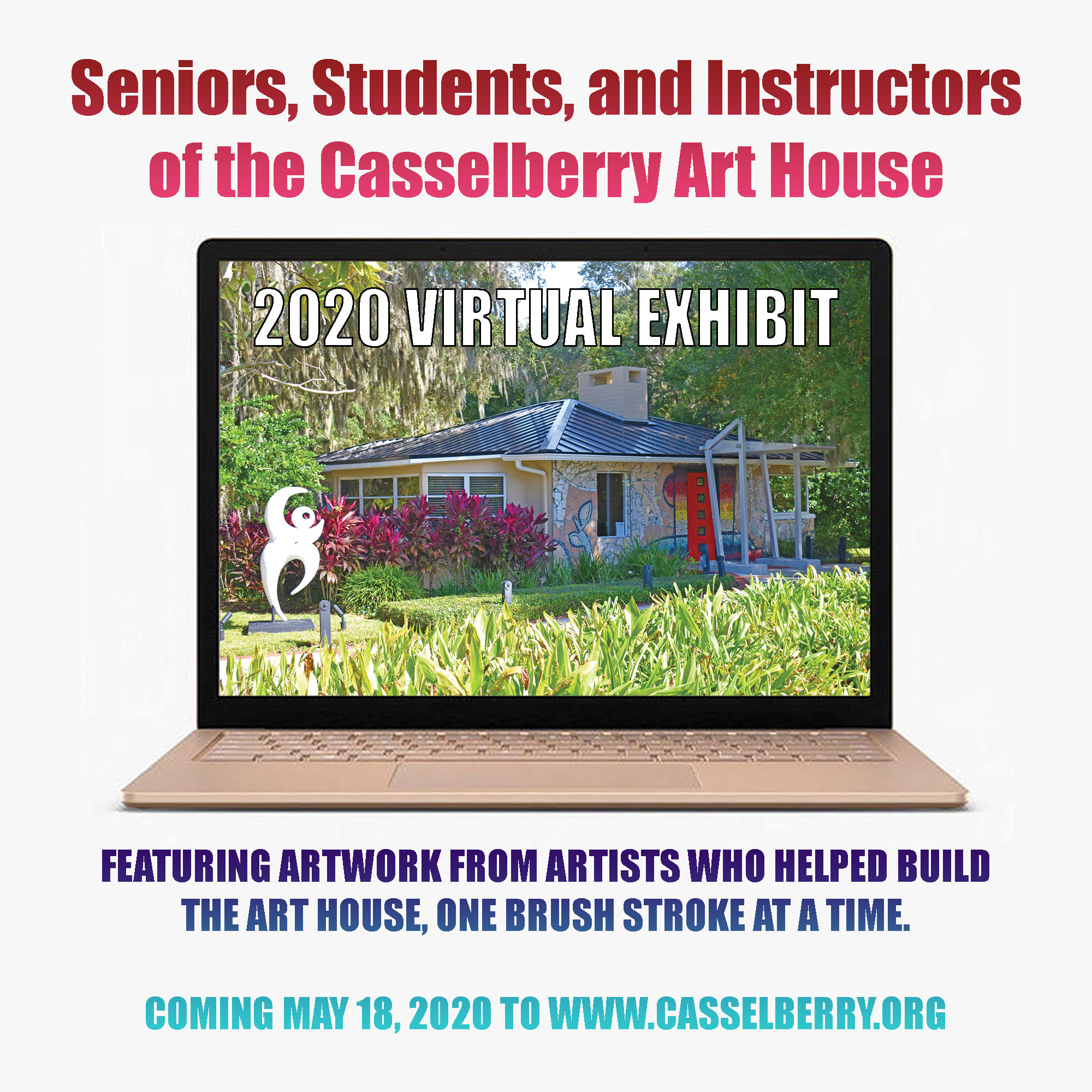 Seniors, Students, and Instructors of the Art House graphic